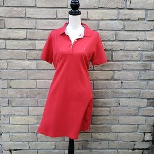 TOMMY HILFIGER Red Polo Shirtdress